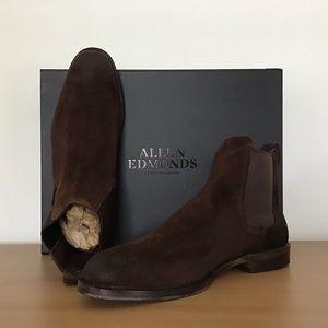 Allen Edmonds Liverpool men's brown suede boots